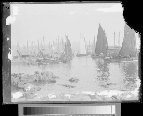 30 fishing boats in bay