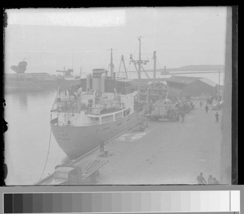 54 unloading herring barrels
