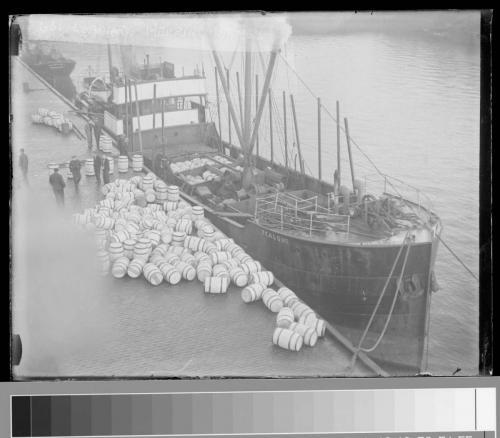 55 loading herring barrels
